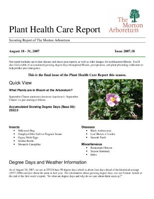 Plant Health Care Report: Issue 2007.18