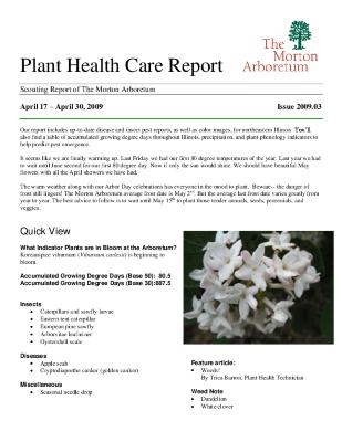 Plant Health Care Report: Issue 2009.03