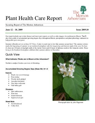 Plant Health Care Report: Issue 2009.10