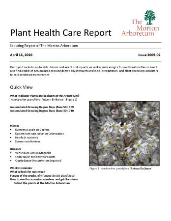 Plant Health Care Report: Issue 2010.02