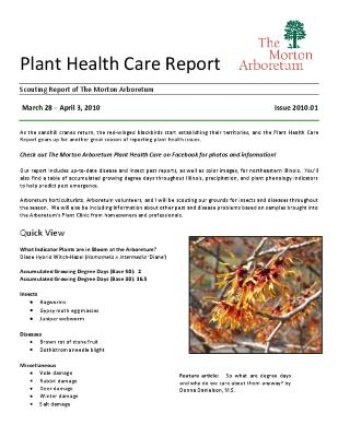 Plant Health Care Report: Issue 2010.01