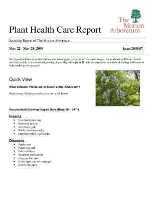 Plant Health Care Report: Issue 2009.07