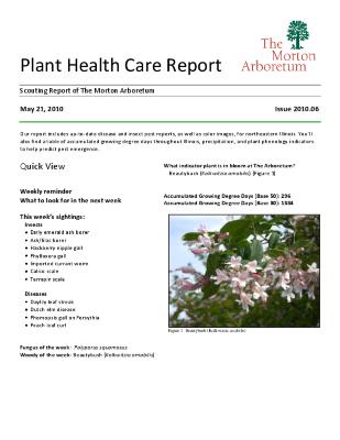 Plant Health Care Report: Issue 2010.06