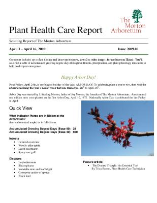 Plant Health Care Report: Issue 2009.02
