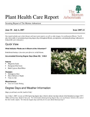 Plant Health Care Report: Issue 2007.12
