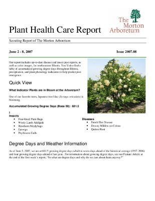 Plant Health Care Report: Issue 2007.08
