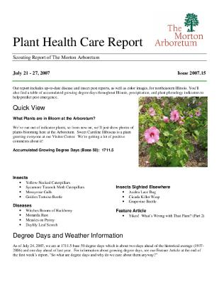 Plant Health Care Report: Issue 2007.15