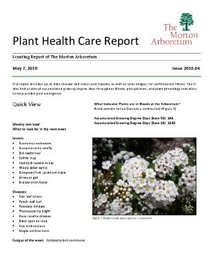 Plant Health Care Report: Issue 2010.04