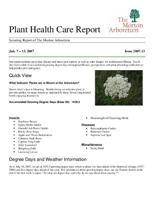 Plant Health Care Report: Issue 2007.13