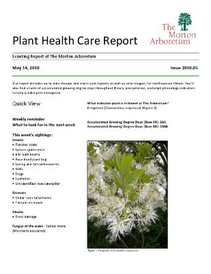 Plant Health Care Report: Issue 2010.05