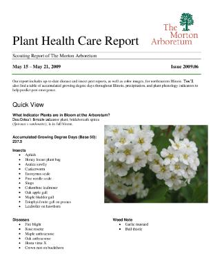 Plant Health Care Report: Issue 2009.06