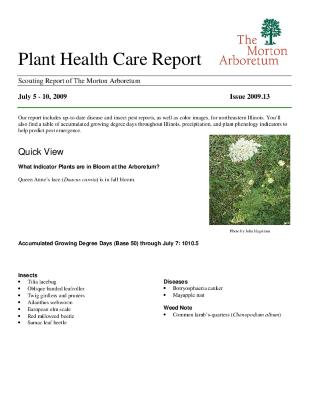 Plant Health Care Report: Issue 2009.13