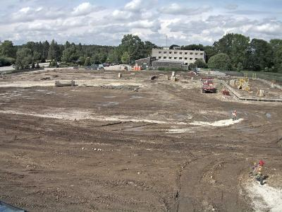 South Farm Curatorial and Operations Center Construction, August 2016