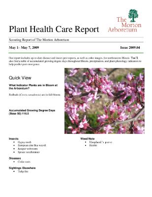 Plant Health Care Report: Issue 2009.04