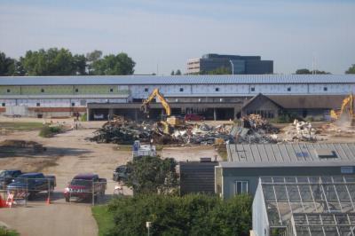 South Farm Demolition (view from Herbarium)