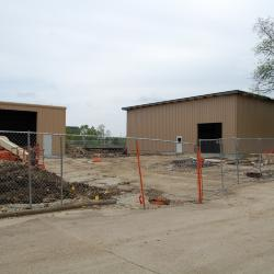 Arbordale: Soil Storage Building (left) and Plant Production Building (right)