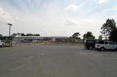 South Farm Demolition (view from Parking Lot)