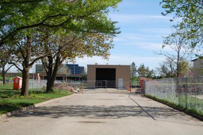 Arbordale: Soil Storage Building (front)