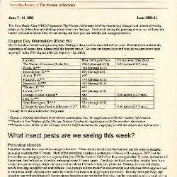 Plant Health Care Report: Issue 2003.11
