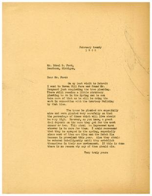 1935/02/20: Marshall Johnson to Edsel Ford