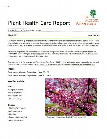 Plant Health Care Report: Issue 2011.03