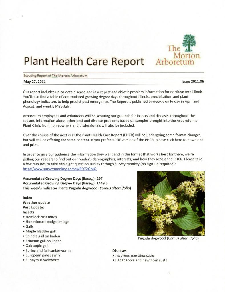 Plant Health Care Report: Issue 2011.06