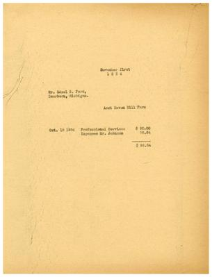 1934/11/01: Marshall Johnson to Edsel Ford