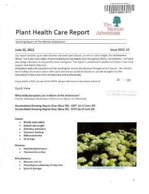 Plant Health Care Report: Issue 2012.10