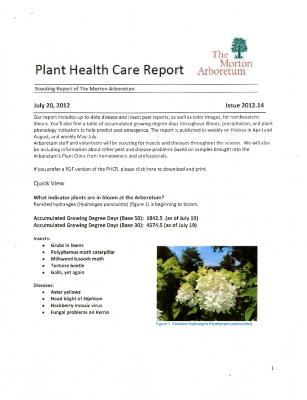 Plant Health Care Report: Issue 2012.14