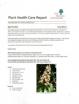 Plant Health Care Report: Issue 2012.2
