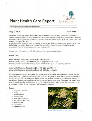 Plant Health Care Report: Issue 2012.3
