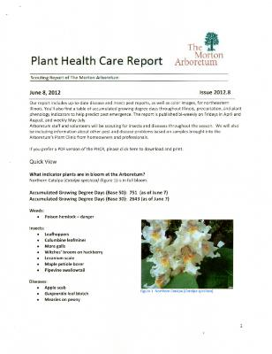 Plant Health Care Report: Issue 2012.8
