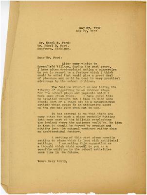 1937/05/27: Marshall Johnson to Edsel Ford