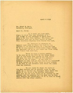 1935/04/04: Marshall Johnson to Edsel Ford