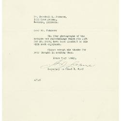 1936/12/15: A. J. Lepine to Marshall Johnson
