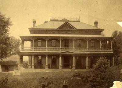 Arbor Lodge,  formal front view