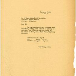 1934/11/05: E. A. Meyer Associated Nurseries to Edsel Ford