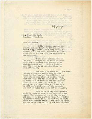 1935/07/11: Marshall Johnson to Edsel Ford