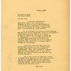 1934/10/20: Marshall Johnson to Edsel Ford