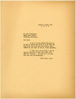 1935/01/25: Marshall Johnson to Ray Dahlinger