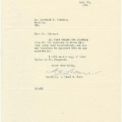 1934/11/23: A. J. Lepine to Marshall Johnson