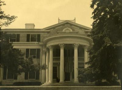 Arbor Lodge, front rotunda portico
