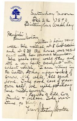 1890/02/22: J. Sterling Morton to Emma Morton