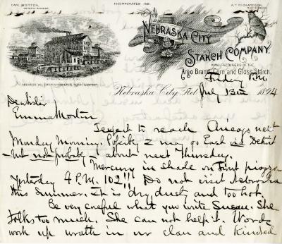 1894/07/13: J. Sterling Morton to Emma Morton