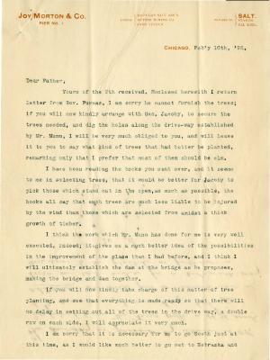 1898/02/10: Joy Morton to J. Sterling Morton