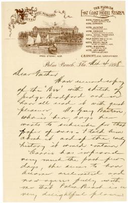 1898/03/04: Joy Morton to J. Sterling Morton