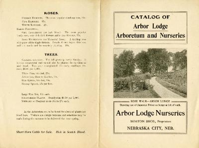 [1896-1900]: Catalog of Arbor Lodge Arboretum and Nurseries
