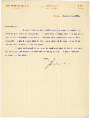 1900/03/24: Joy Morton to J. Sterling Morton