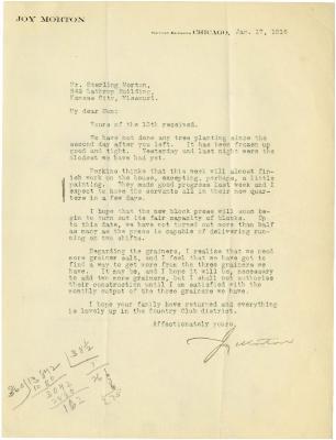 1916/01/17: Joy Morton to Son (Sterling Morton)