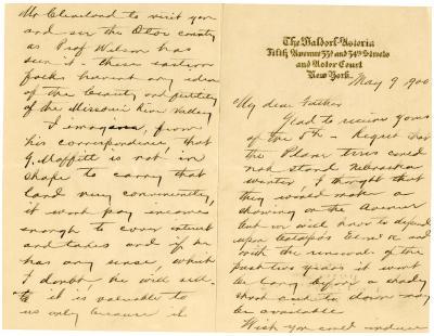 1900/05/09: Joy Morton to J. Sterling Morton